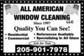 All American Window Cleaning