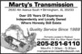 Marty's Transmission
